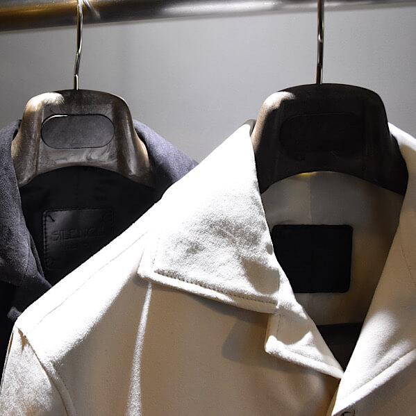 シーズン問わず着られるスウェードシャツジャケット